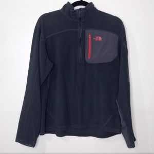The North Face Quarter Zip Gray Pullover